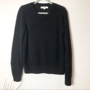 Loft Black Loose Knit Sweater